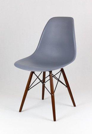 SK Design KR012 Dunkelrau Stuhl Wenge