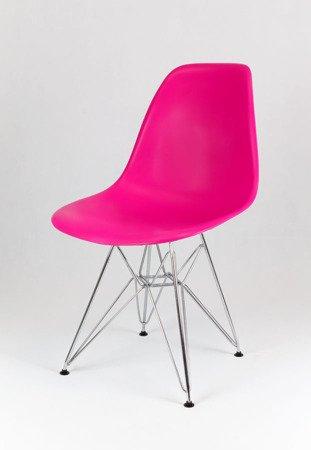 SK Design KR012 Dunkelrosa Stuhl Chrom