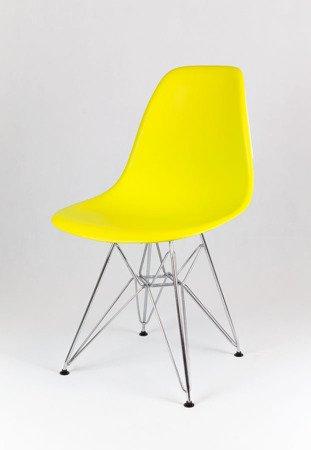 SK Design KR012 Gelb Stuhl, Chrom