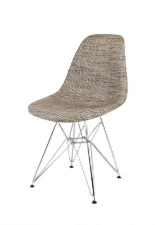 SK Design KR012 Polster Stuhl Lawa02, Chrom Beine