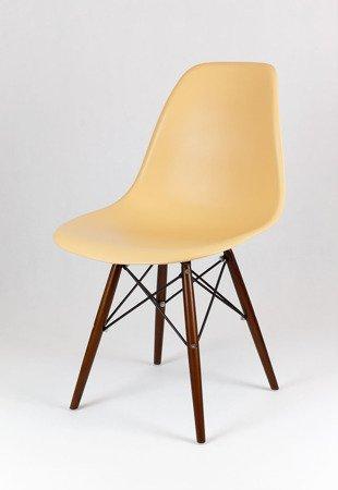 SK Design KR012 Sand Beige Stuhl, Wenge