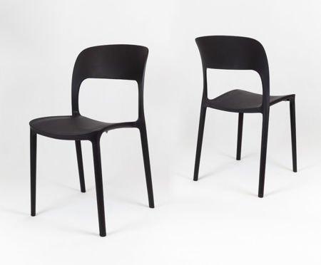 SK Design KR022 Schwarz Stuhl aus Polypropylen UFO