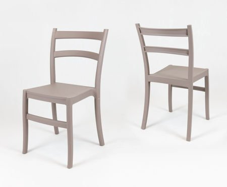 SK Design KR032 Latte Stuhl aus Polypropylen Retro