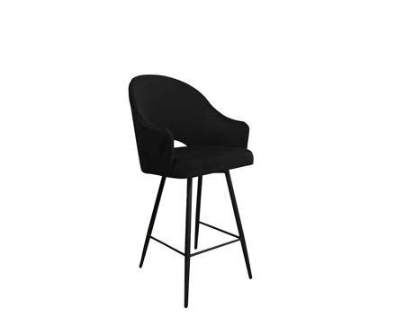 Schwarzer gepolsterter Sessel DIUNA Sessel Material MG-19