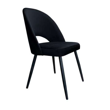 Schwarzer gepolsterter Stuhl LUNA Material MG-19