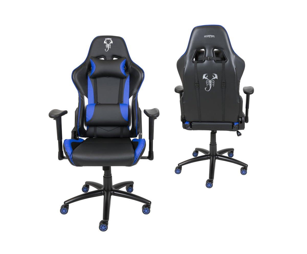 Fotel Gamingowy Scorpion Niebieski Skg006 N Skg006 Niebieski