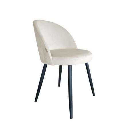 Białe tapicerowane krzesło CENTAUR materiał MG-50