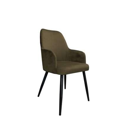 Brązowe tapicerowane krzesło PEGAZ materiał MG-05