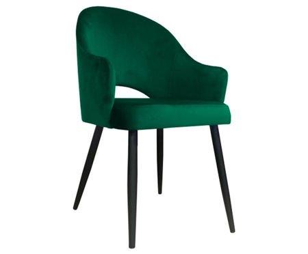 Ciemnozielone tapicerowane krzesło fotel DIUNA materiał MG-25