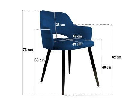 Czarne tapicerowane krzesło STAR materiał MG-19 ze złotą nogą