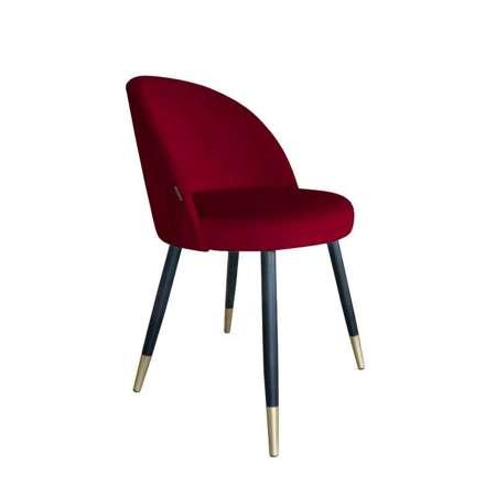 Czerwone tapicerowane krzesło CENTAUR materiał MG-31 ze złotą nóżką