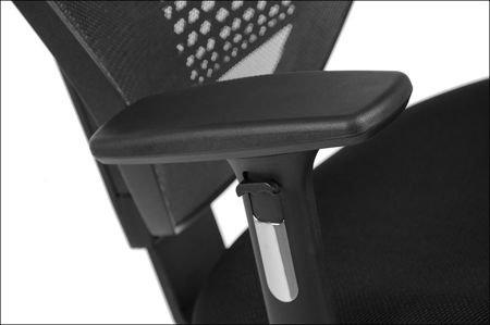 Fotel biurowy gabinetowy z wysuwem siedziska JAWA krzesło biurowe obrotowe szare