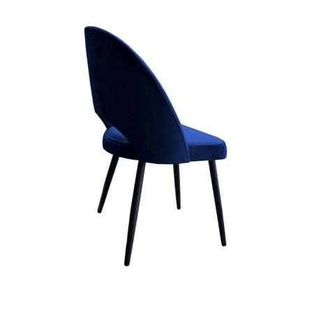 Granatowe tapicerowane krzesło LUNA materiał MG-16