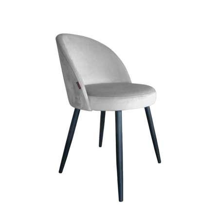 Jasnoszare tapicerowane krzesło CENTAUR materiał MG-39