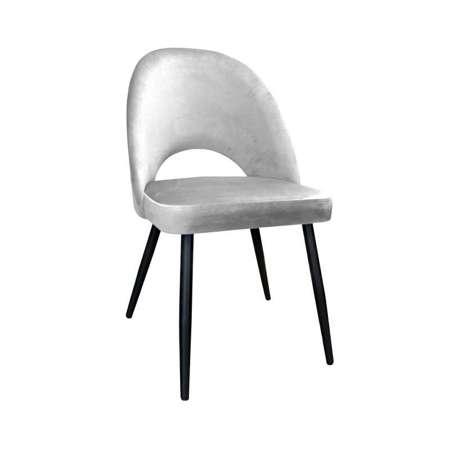Jasnoszare tapicerowane krzesło LUNA materiał MG-39