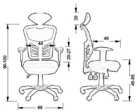 Krzesło Fotel biurowy gabinetowy obrotowy Cypr - czerwony