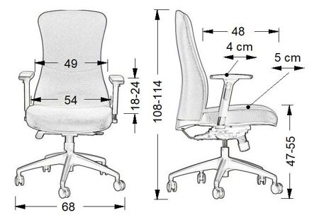 Krzesło Fotel obrotowy Samos - SZARY
