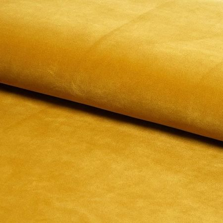 Krzesło KALIPSO żółte musztardowe materiał MG-15 ze złotą nóżką