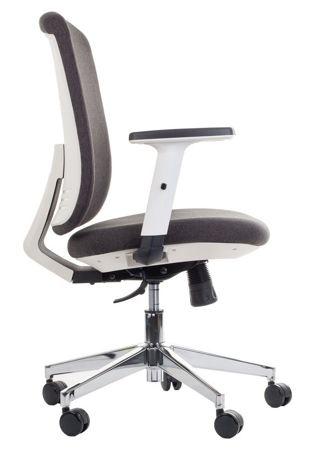 Krzesło fotel obrotowy Milos - Grafitowy/Biały