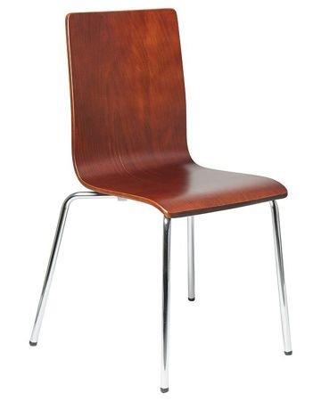Krzesło sklejka gięta SK-132B CIEMNY ORZECH