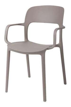 Krzesło z podłokietnikami Flexi kawa z mlekiem KR022