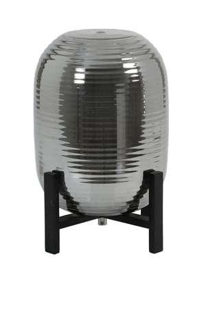 Lampa stołowa Nibali dymiona/czarne drewno