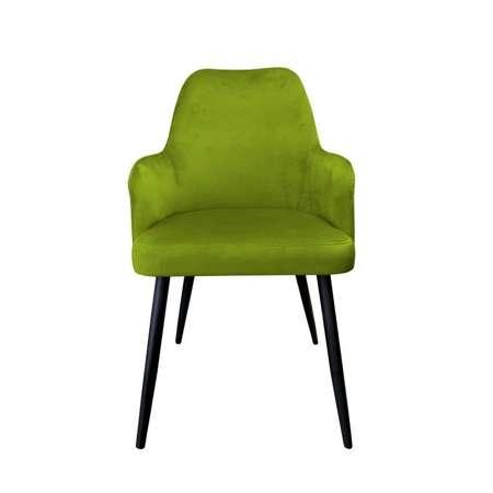 Oliwkowe tapicerowane krzesło PEGAZ materiał BL-75
