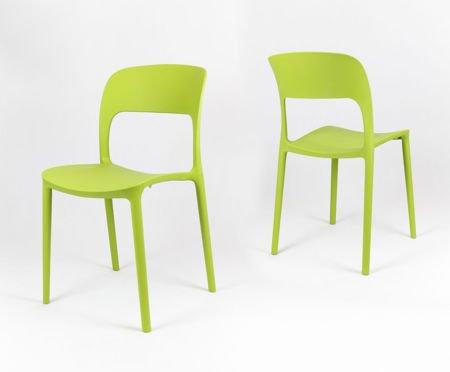 SK Design KR022 Zielone Krzesło Polipropylenowe