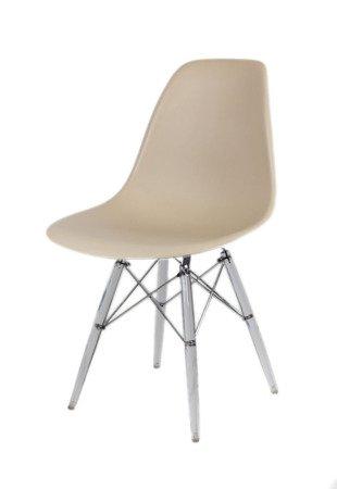 SK Design KR012 Beżowe Krzesło - Nogi Lodowe