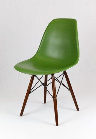 SK Design KR012 Ciemnozielone Krzesło, Nogi wenge