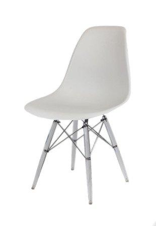 SK Design KR012 Jasnoszare Krzesło, Nogi lodowe