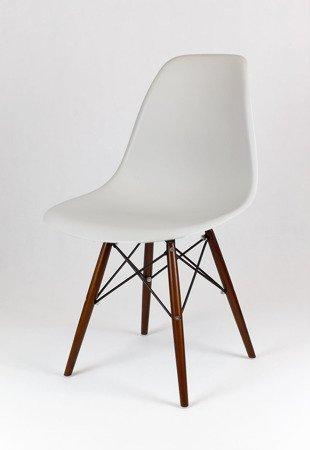 SK Design KR012 Jasnoszare Krzesło, Nogi wenge