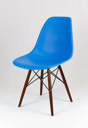 SK Design KR012 Niebieskie Krzesło, Nogi wenge