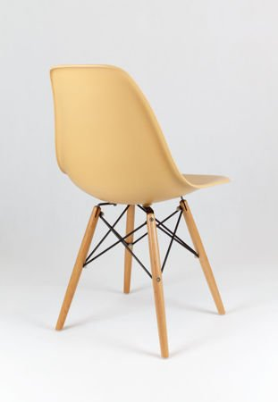SK Design KR012 Piaskowe (beżowe) krzesło, Nogi buk
