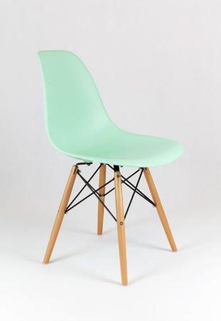 SK Design KR012 Pistacjowe / Miętowe Krzesło, Nogi buk
