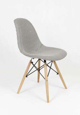 SK Design KR012 Tapicerowane Krzesło Pepitka Buk