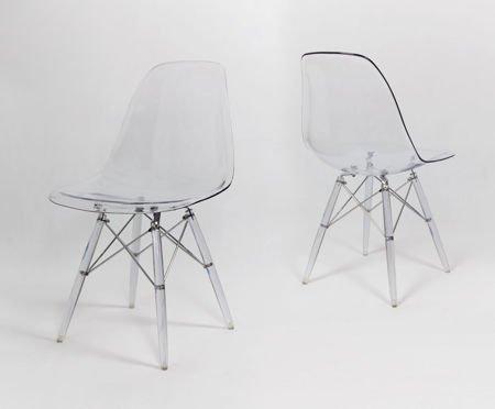 SK Design KR012 Transparentne krzesło, Nogi lodowe