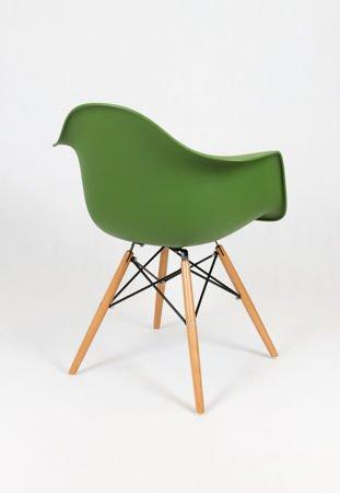 SK Design KR012F Ciemnozielony Fotel Buk
