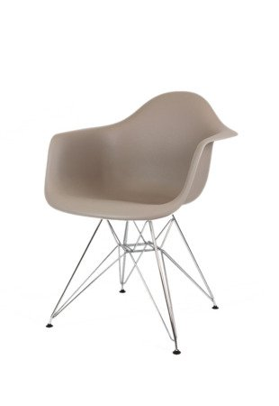 SK Design KR012F Fotel Kawa z Mlekiem Chrom