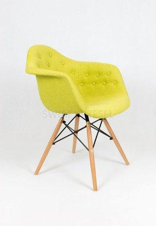 SK Design KR012F Tapicerowany Fotel Guzik Moric 10 Buk