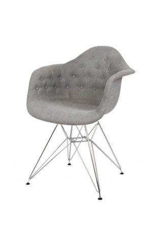 SK Design KR012F Tapicerowany Fotel Moric 7 Guzik Chrom