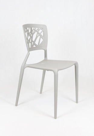 SK Design KR014 Jasnoszare Krzesło