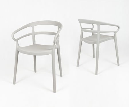 SK Design KR063 Jasnoszare Krzesło