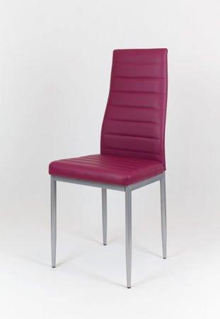 SK Design KS001 Purpurowe Krzesło z Ekoskóry Malowane Nogi