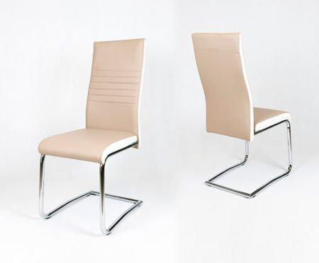 SK Design KS020 Beżowe Krzesło, Biały bok
