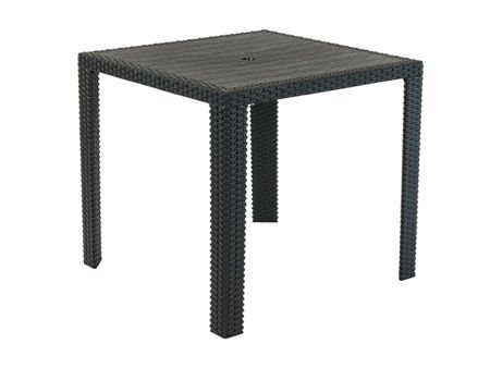 SK Design ST14 Czarny Stół Imitacja Ratan 80 cm