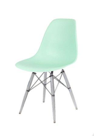 SK DesignKR012 Pistacjowe / Miętowe Krzesło, Nogi lodowe