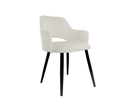 Tapicerowane krzesło STAR w kolorze kości słoniowej materiał MG-50