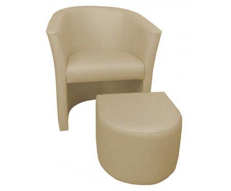 Vanilia fotel CAMPARI z podnóżkiem