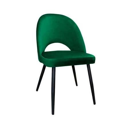 Zielone tapicerowane krzesło LUNA materiał MG-25
